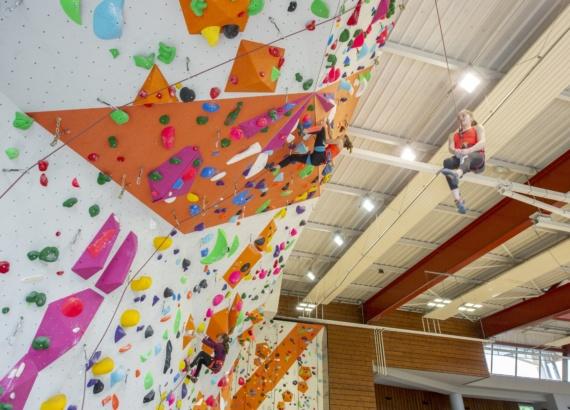 Démonstration des grimpeurs élites de la Dégaine