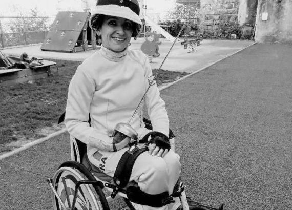 Circée Peloux sportive de haut niveau en escrime fauteuil