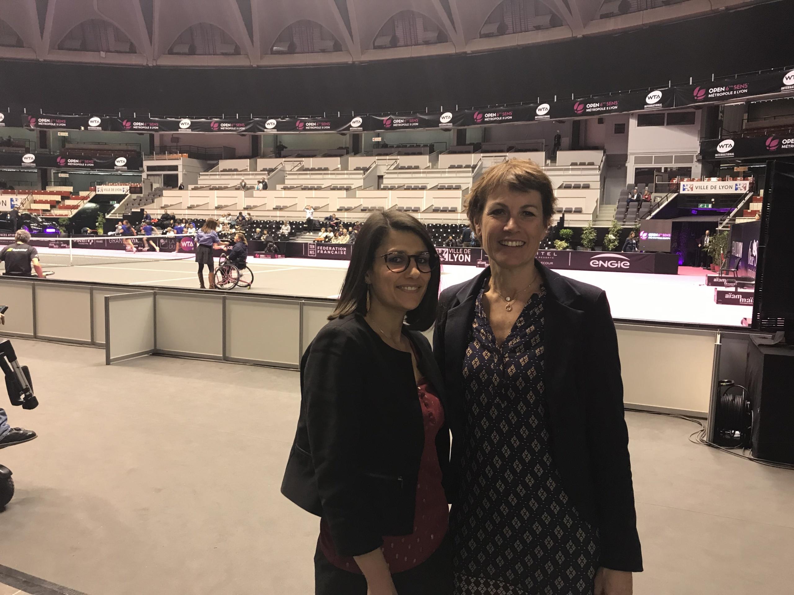 Laetitia Kassapian Rex Rotary et Emmanuelle Thomas responsable des partenariats Ligue Handisport Aura