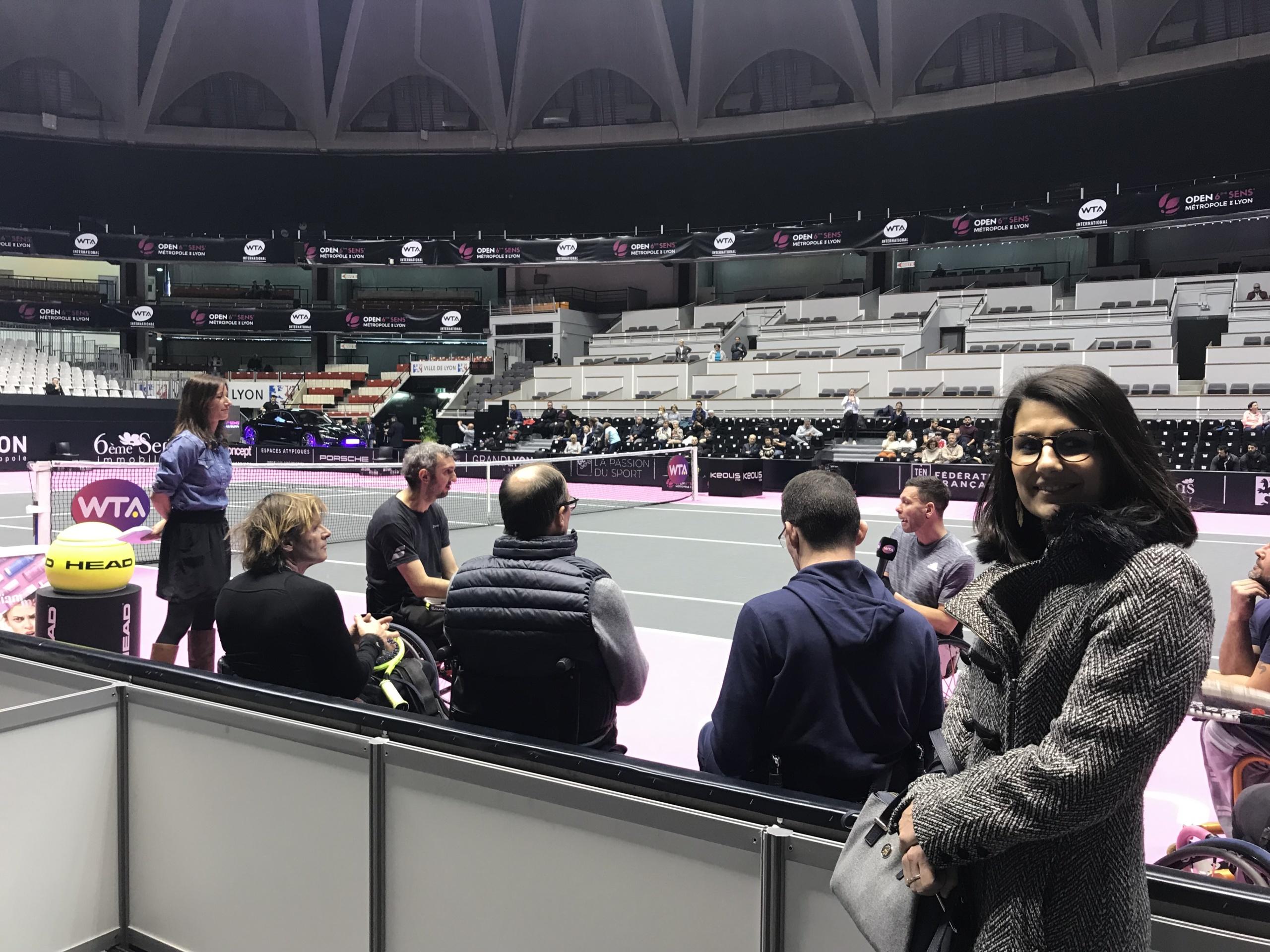 laetitia KAssapian Rex Rotary Mission Handicap à la journée Tennis Handicap de l'open de tennis Féminin de Lyon
