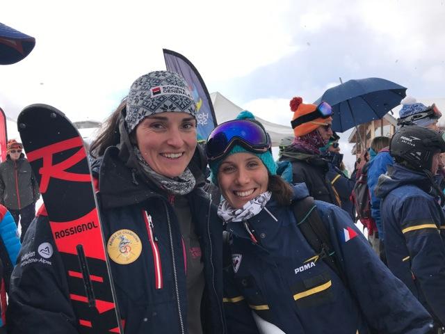 Marie Bochet et Claire Grosdidier de la Fondation Poma