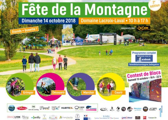 affiche fête de la montagne 2018 Domaine Lacroix-laval (69)