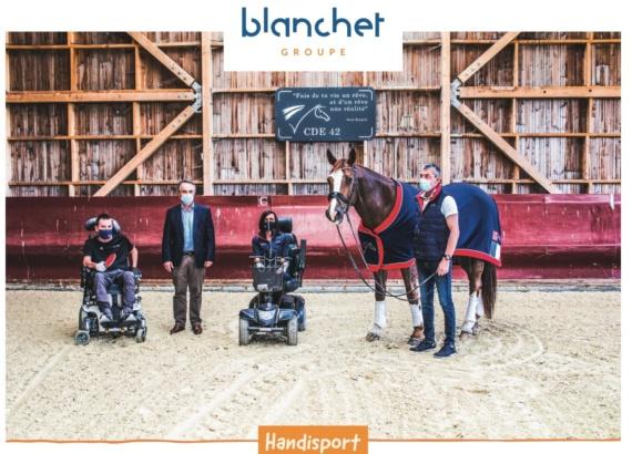Blanchet Groupe soutien 2 sportifs handisport et la Ligue aura handisport
