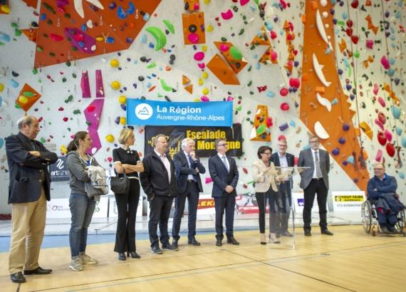 Inauguration du mur d'Escalade à Tassin/Charbonnières La Dégaine-Le SIOL le 2 mai 2019