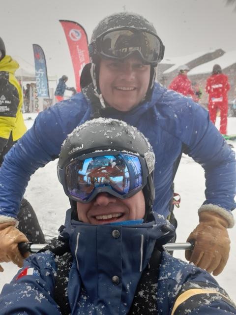 Romain Didio et Etienne Million au championnat de France de ski handisport / découverte du tandem ski