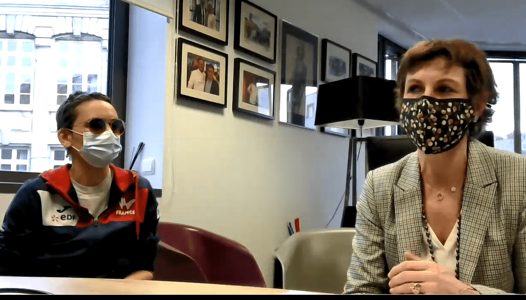Emmanuelle Thomas interviewée par rex rotary Lyon CLub H+Sport