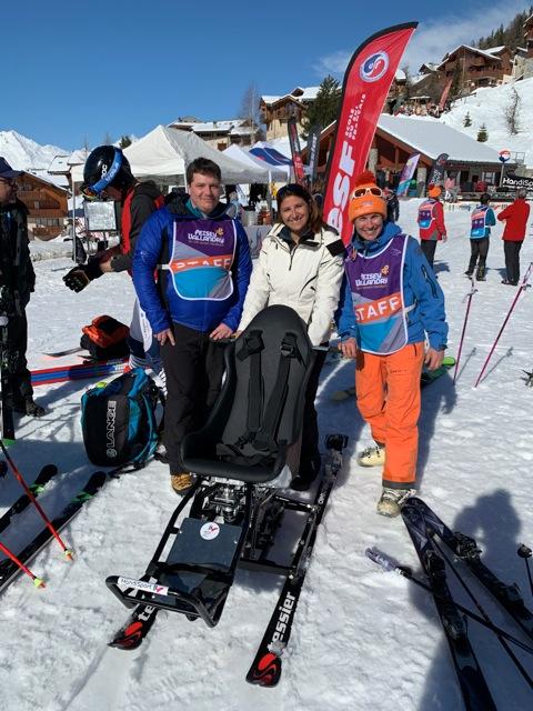 Romain Didio Sandrine Chaix élue au Handicap à la Région et Emmanuelle Thomas Colibri-Partners rsp des partenariats de la ligue handisport Aura