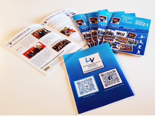 Livret A5 du Projet Associatif 2020-2021 pour la Légion Viennoise, le club historique de gymnastique de Vienne